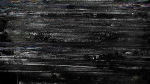 Wheel Black And White Glitch Core Animation
