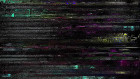 Glitch TV Static Noise Distorted Signal Problems Baby Animation