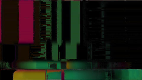Distortion Background Digital Glitch Boy Animation
