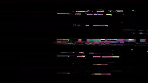Explore Bad Old TV Station Off Air Analog Glitch Animation