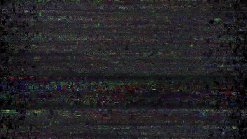 Fireworks Glitch. Computer Screen Error. No Signal Animation