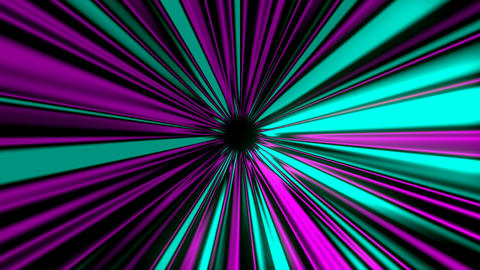 Abstract mysterious rays tunnel, moving in space and time, distortion of space Footage