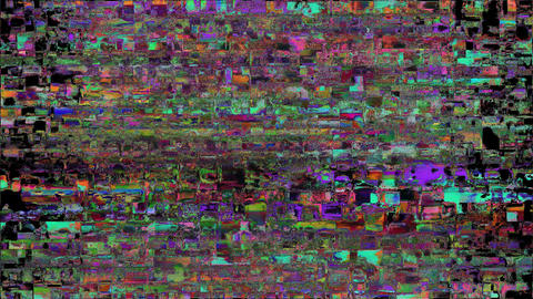 Abstract Digital Animation Pixel Noise Glitch Error Video Damage Matrix Animation