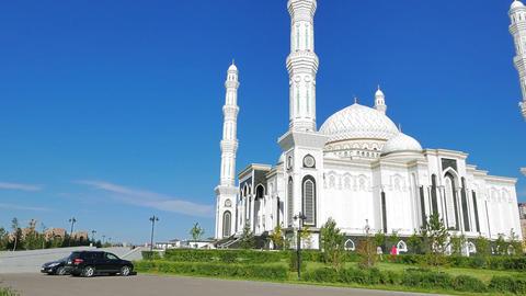 Glitch effect. Sights of Astana - Hazrat Sultan Mosque, Astana, Kazakhstan, Nur-Sultan Footage