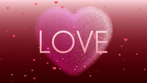 Love and hearts footage. Concept of love, red and pink color Animation