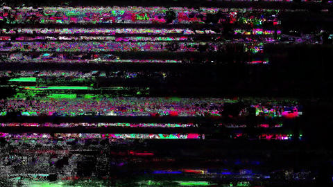 Any Abstract Digital Animation Pixel Noise Glitch Error Video Damage Animation