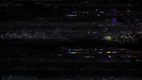 Bad Old TV Station Off Air Analog Glitch Omni Animation