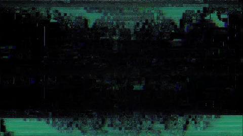 Glitch TV Static Noise Signal Problems Time Animation
