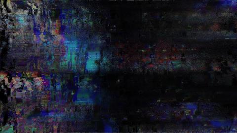 Glitch. Computer Screen Error. No Signal Auto Animation