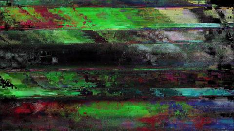 Fire Signal Niose Grain Damaged Glitch Video Background Animation