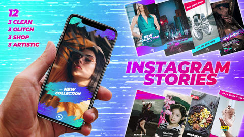 Instagram Stories Pack 1 After Effectsテンプレート