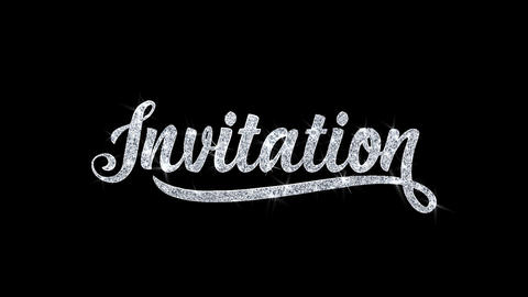 Invitation Blinking Text Wishes Particles Greetings,... Stock Video Footage