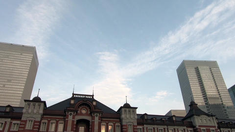Sky near Tokyo Station on a sunny day Footage