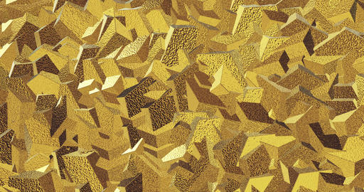 Golden metal background 3d render. Abstract background with animation of Footage
