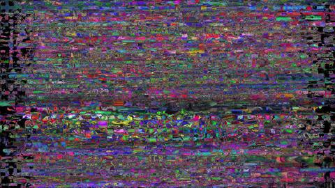 Quark Glitch Effect Bad TV Animation