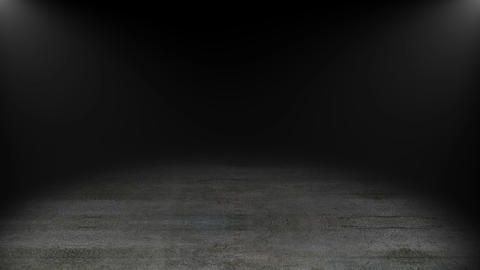 Concrete floor with spot lights, 3d rendering computer generated backdrop GIF