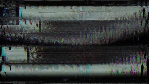 Passionate Glitches From An Old Tape, Black Screen Animation