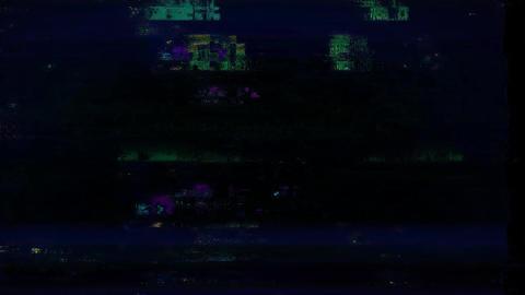 Roadside Glitch. Computer Screen Error. No Signal Animation