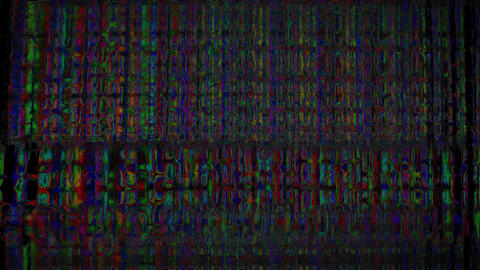 Solaris Glitch TV Static Noise Distorted Signal Problems Animation