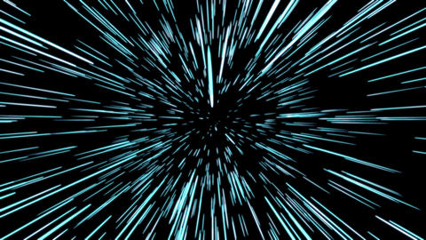 Space warp. Light Speed animation Animation