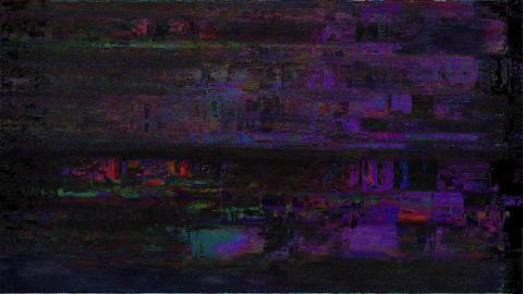 Tri No Signal On Television Gltich Effect Animation