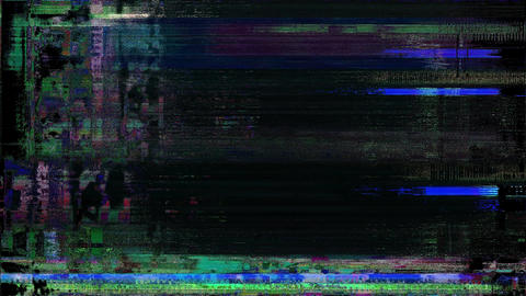 Discovery Old TV Glitch Color Disturbances On A Black Background Animation