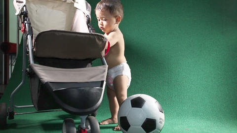 Child playing soccer25 Footage