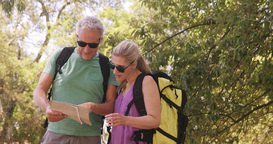 Couple using map to find the way Live Action