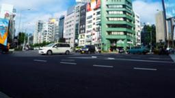 Japan's Fashionable Spot, Omotesando stock footage