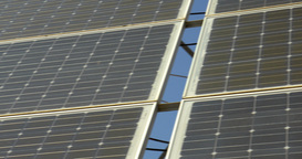 Solar battery panels Footage