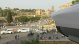 Surveillance camera near the Colosseum in Rome Footage