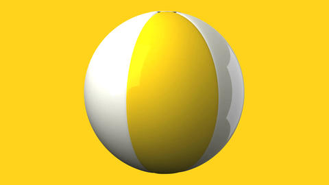Beach ball on yellow background Stock Video Footage