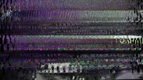 Digital Pixel Noise Glitch Art Effect Champ Animation