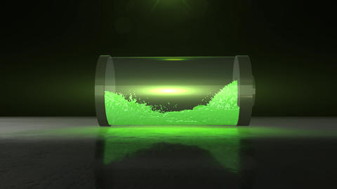 battery energy fluid and charge animation Animation
