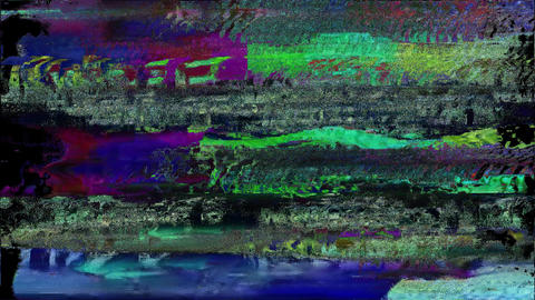 Portable Unique Design Abstract Colorful Noise Glitch Video Damage Animation