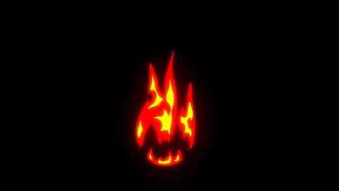 Hand Drawn Fire Elements Stock Video Footage