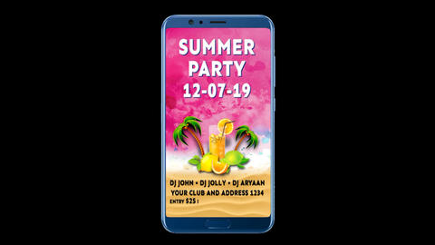 Summer Party Promo After Effects Template