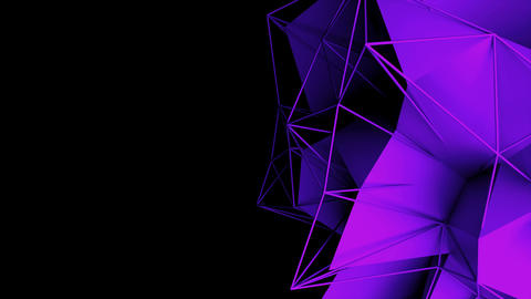 3d rendering fractal object with mesh grid, abstract modern background, computer Footage
