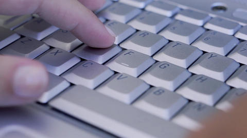 Young Female Hands Using Laptop Computer Footage