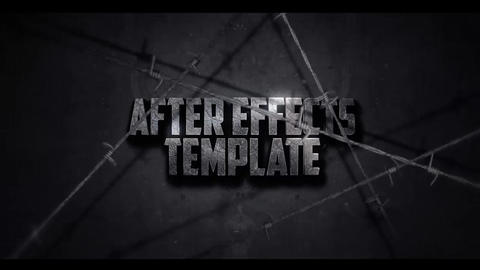 BARBED WIRE TEXT INTRO After Effects Template