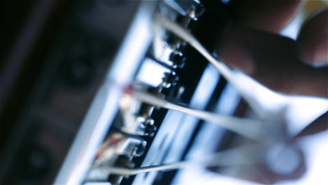 [alt video] Bass Guitar. Fingers Fingering The Strings
