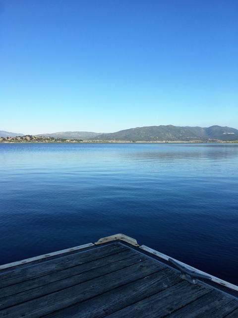 Boat dock triangle Photo