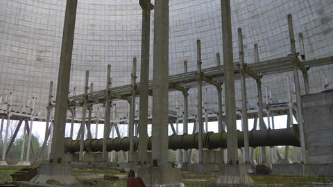 Cooling tower of Chernobyl Nuclear Power Station Archivo
