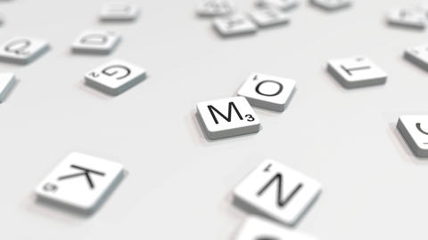 MOSCOW city name being composed with letters. 3D animation ライブ動画