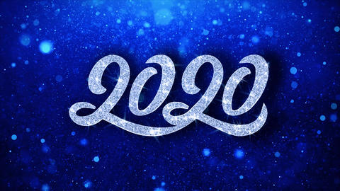 Happy New Year 2020 Wishes Particles Greetings, Invitation, Celebration Live Action