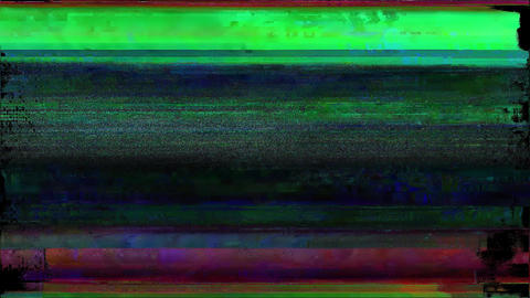 Noise Glitch Video Damage Locator Animation