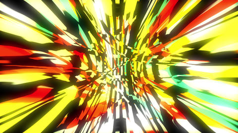 Dynamic bright glich video or effect of motion in the bright space, 3d render Footage