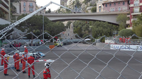 Fast Formula E Cars On Monaco E-Prix GIF