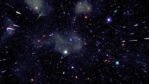 Space 2138: Flying through star fields in deep space Animation