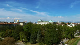 Aerial view of capital of Bulgaria, Sofia. Three architectural and iconic buildings - Sofia Archivo
